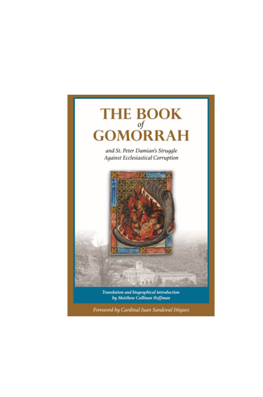"Book cover with title ""The Book of Gomorrah"""