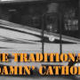 """Recreational Vehicle with the words """"The Traditional Roamin' Catholic"""""""