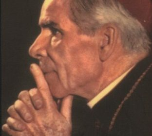Fulton Sheen, profile view.
